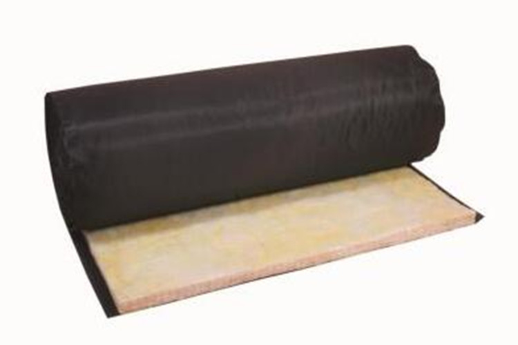 Glass wool black frabic cloth overlap